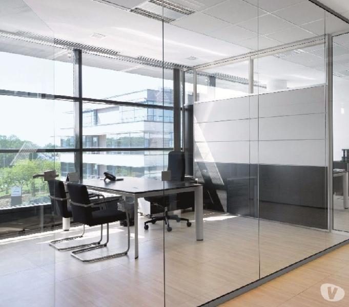 Divisiones para oficina en vidrio templado