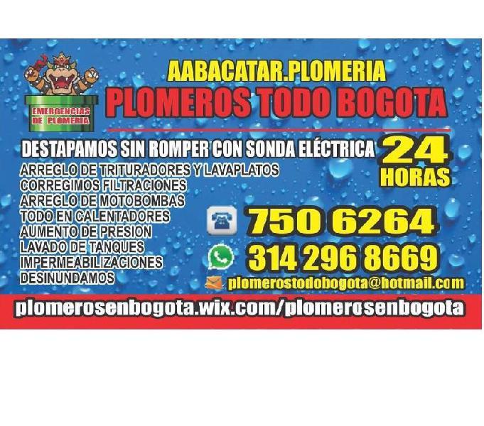 Fontaneros plomero abacatar servicios garantizados 24 horas