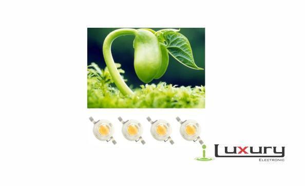 Led 3 w full spectrum cultivo hidropónico plantas 400840nm