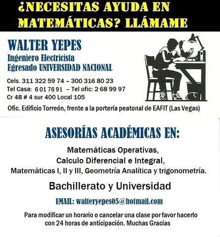 Profesor de Matematicas