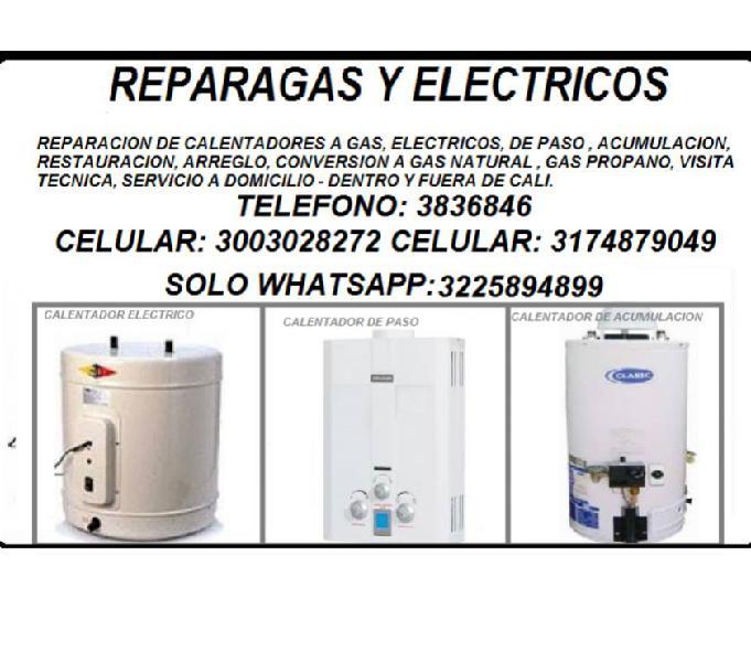 Reparacion de calentadores a gas, electricos, cel.3174879049