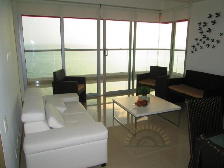 Apartamento 3 habitaciones amoblado frente al mar en pozos