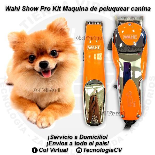 Maquina para perro peluquearia canina wahl show pro kit