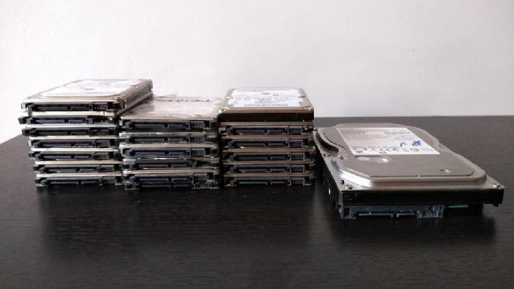 Discos duros, hdd para portatil y pc de mesa. sata, ide.