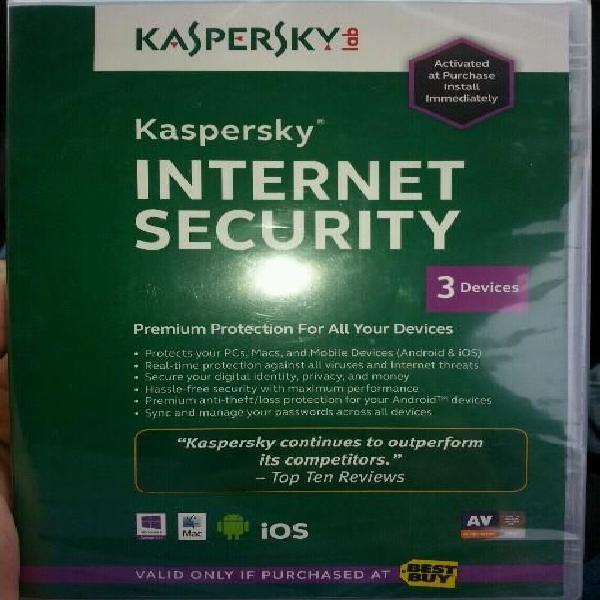 Licencia antivirus kaspersky para 3 equipos super promo de