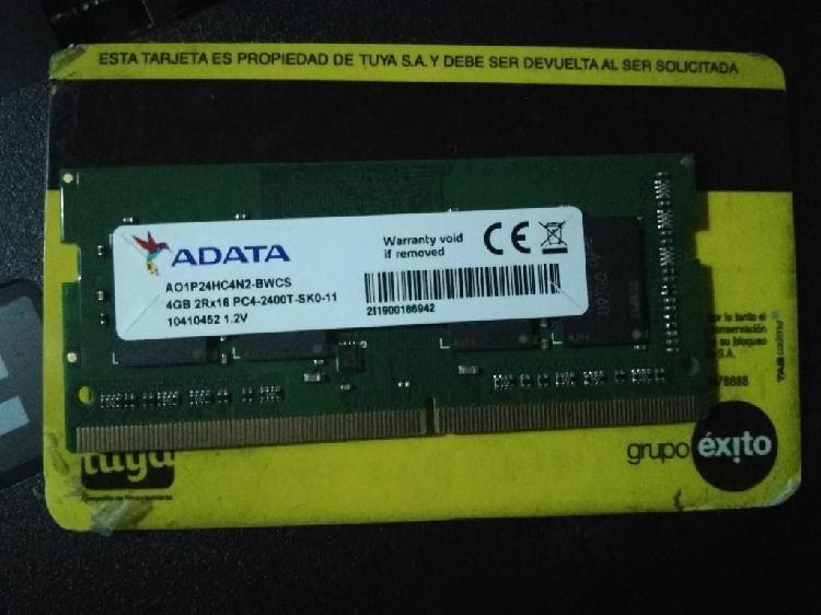 Memoria ram ddr4 4gb 2400mhz nueva