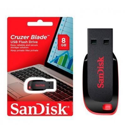 Memoria usb de 8gb sandisk 100 original cruzer blade