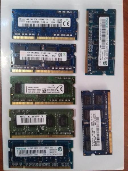 Memorias. modulos de memoria pc y portatil