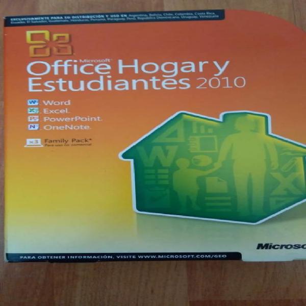 Vendo microsoft office hogar y estudiant