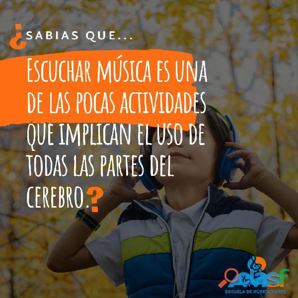 Academia de música: clases de batería para niños entre 5 años