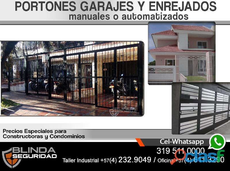 Portones y garajes para su casa, comercio,oficina o finca. fabricación e instalación