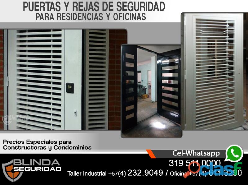 Puertas y rejas de seguridad. fabricación e instalación, para residencias, oficinas y comercios