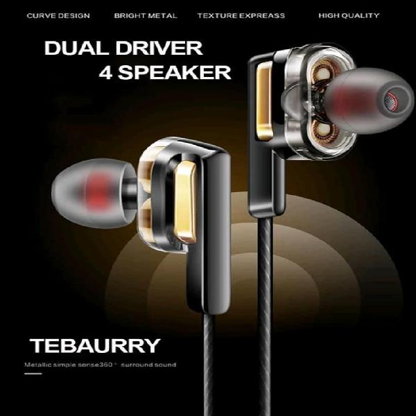 Auriculares doble bass tebaurry x3 dual drivers con