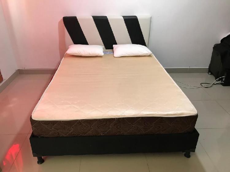 Base cama somier, colcho y espaldar (190 x 140)