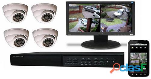 Cámaras de seguridad, mantenimiento de computadores, alarmas