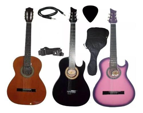 Guitarra Electroacustica Aire Artesanal Forro Colgador Pua