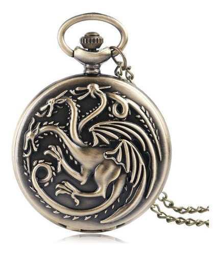 Reloj De Bolsillo Juego De Tronos Game Of Thrones Targaryen