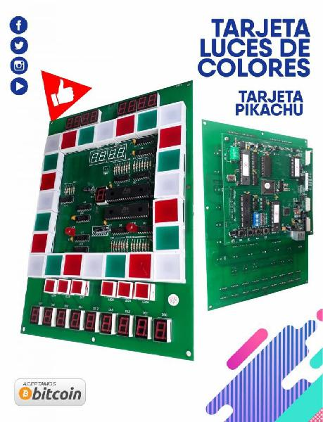 Acesorios para maquina arcade tarjeta luces de colores,