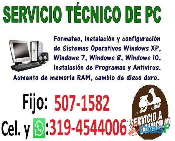 FORMATEO COMPUTADORES ITAGUI ANTIOQUIA TEL:5071582 CEL:3194544006