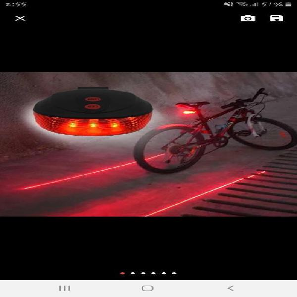 Luces bicicleta advertencia láser