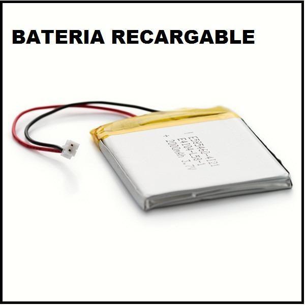 Bateria de litio de 3,7 v y 2000 mah
