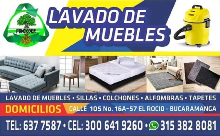 Lavado desinfección de muebles
