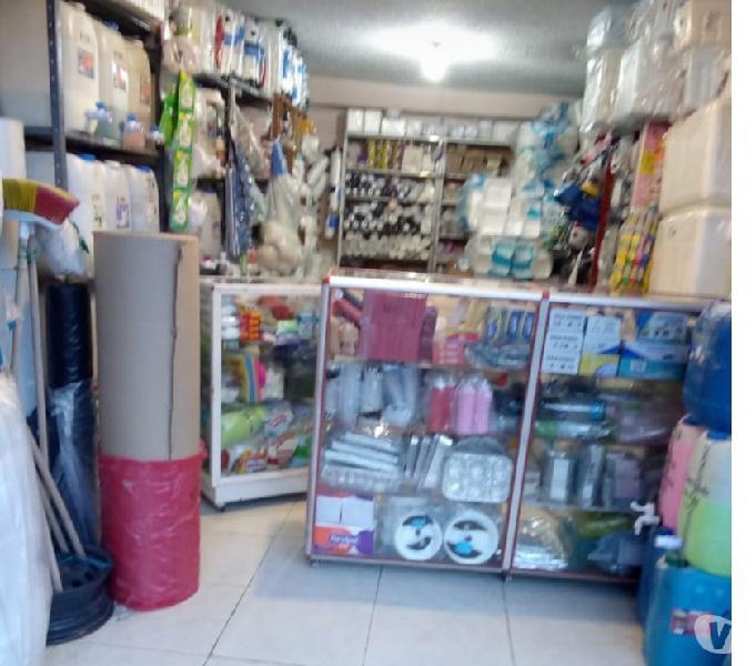 Vendo negocio de plasticos, aseo y desechables