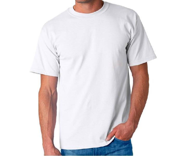 Camisetas cuello redondo blancas en algodón 180 gramos.