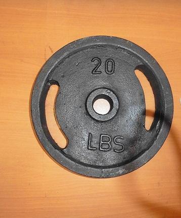 Disco de 20 libras 10 kilos para pesas o mancuernas
