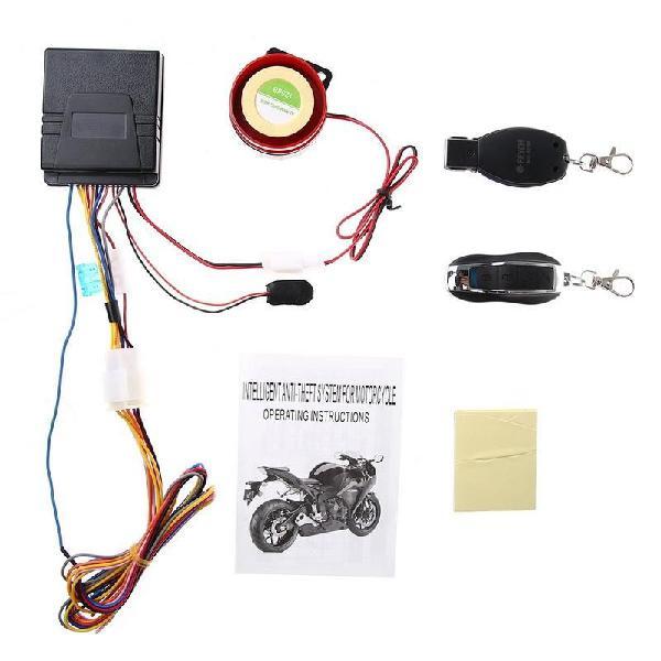 Alarma seguridad moto anti robo corte motor a distancia 12v