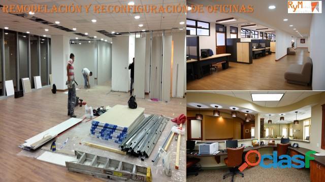 Re  ubicación de oficinas completas.