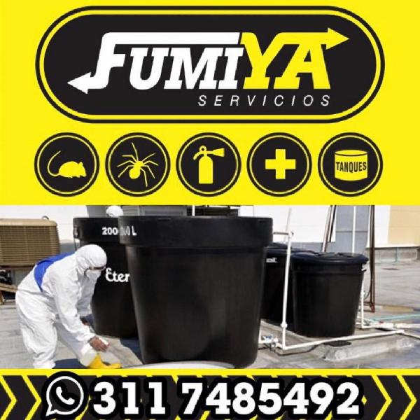 Servicio de fumigación control integrado de plagas y lavado