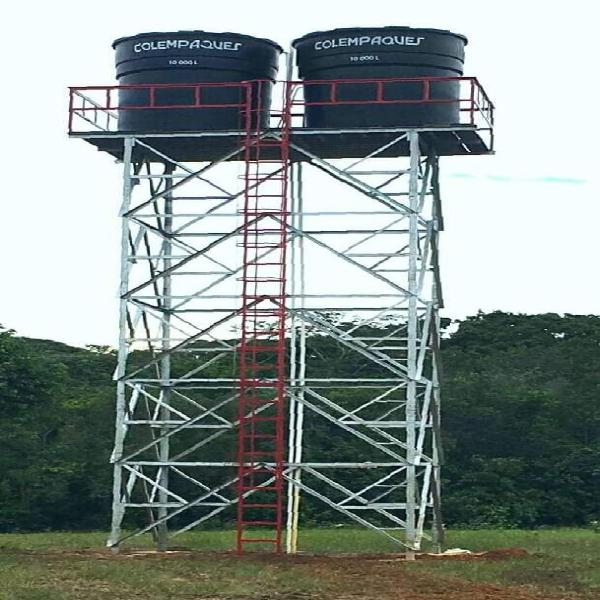 Estructuras metálicas para almacenamiento de agua. 15 años