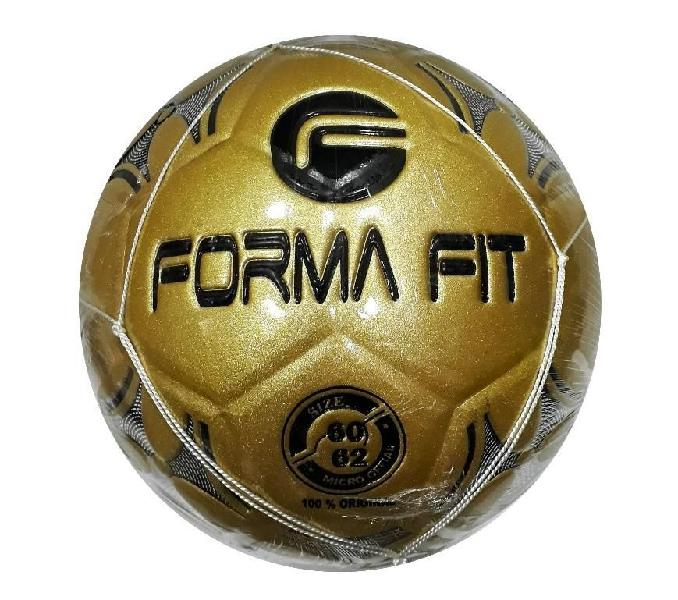 Balon de micro futbol color dorado forma fit
