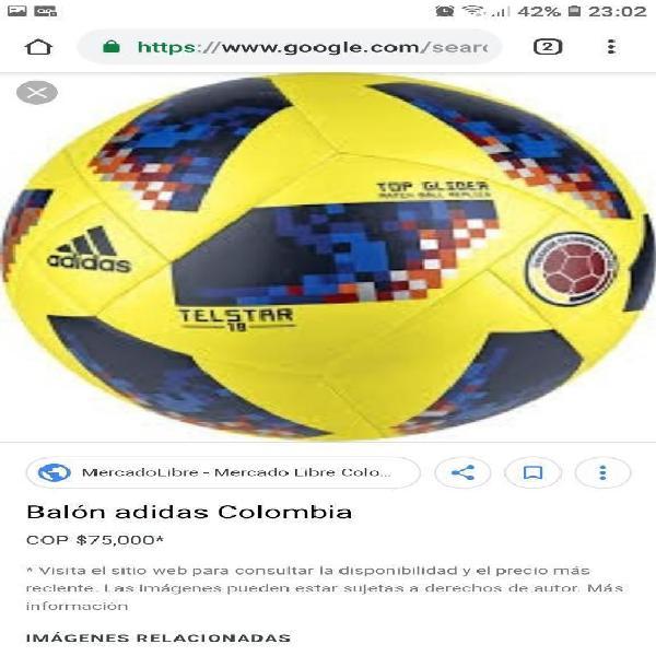 Balon original adidas, selec. colombia