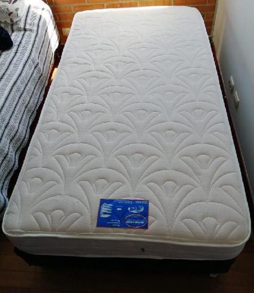 Base cama con colchón 1.00 x 1.90