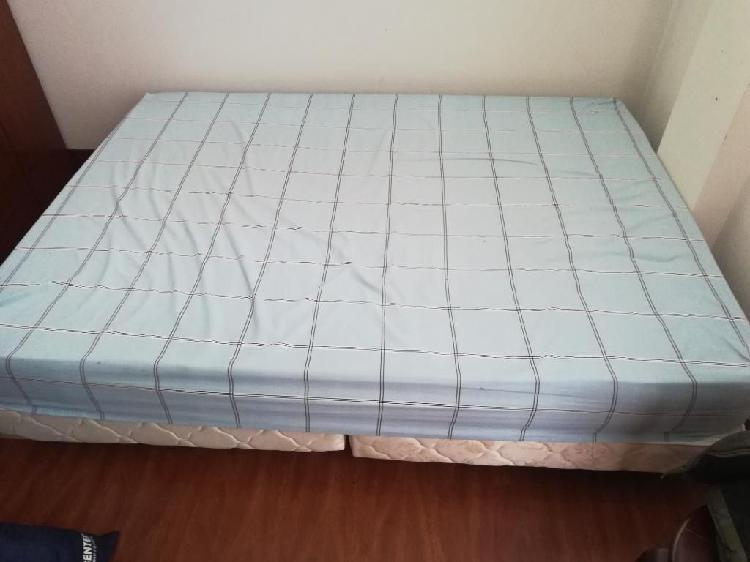 Cama doble bases con colchón