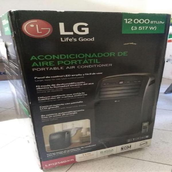 Aire acondicionado portatil lg 12000 btu lp1214gxr control