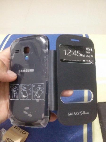 Forro con tapa incluida samsung galaxy s3 mini, nuevos,