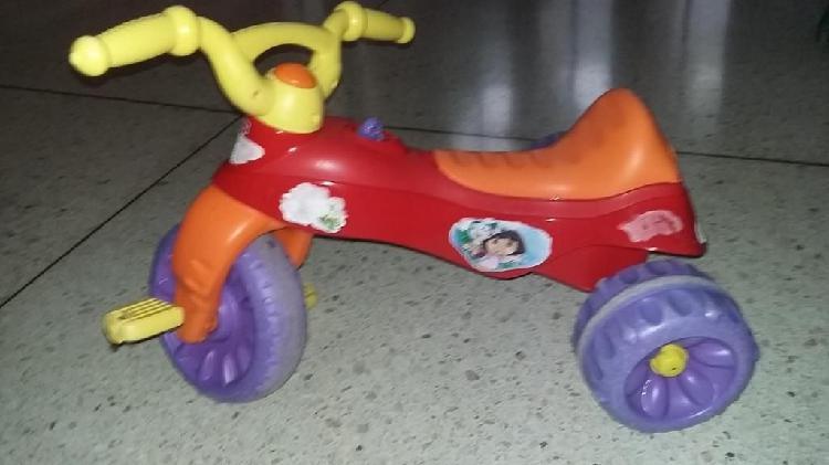 Ganga!!! moto, triciclo dora la exploradora, marca fisher
