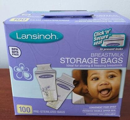 Bolsa para guardar leche materna lansinoh