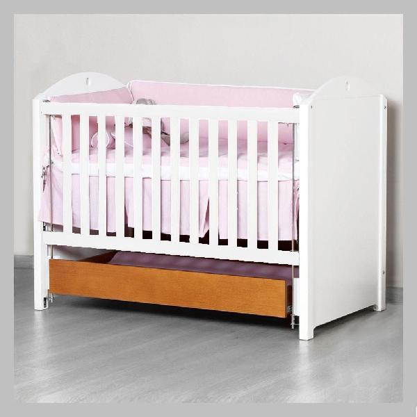 Cama-cuna madera colchón y cajón auxiliar