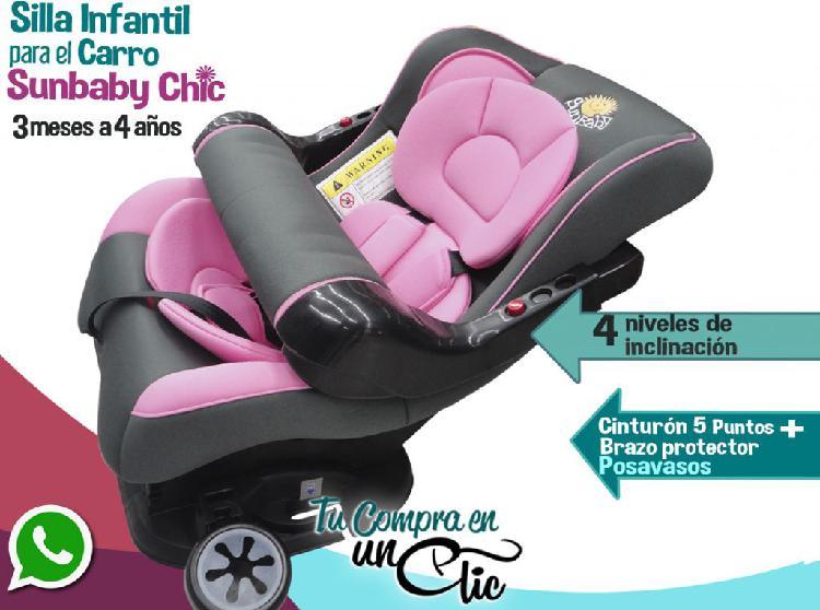 Silla de bebé para carro chic, 3 meses a 4 años. cuatro