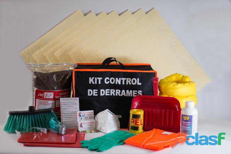 Imexfrance kit control de derrames , certificados,empresa y vehículos,seguridad industrial y vial