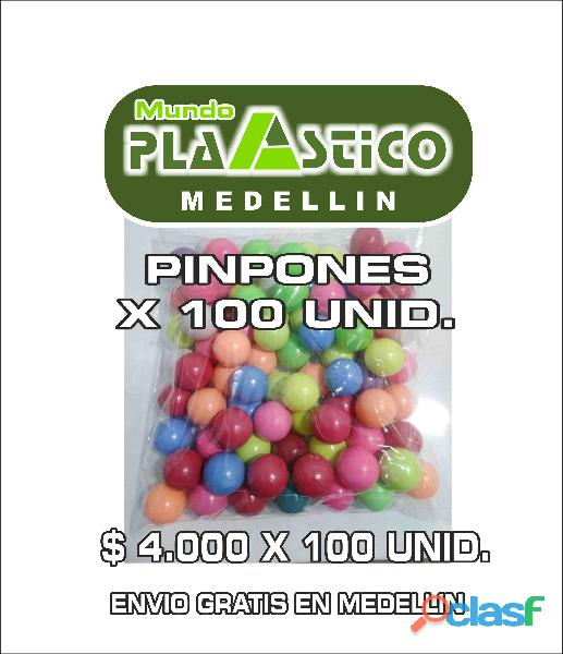 Pimpones   pinpones x 100 unid. medellin