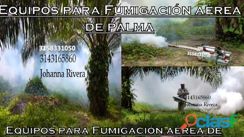 Equipos para fumigacion aérea de palma