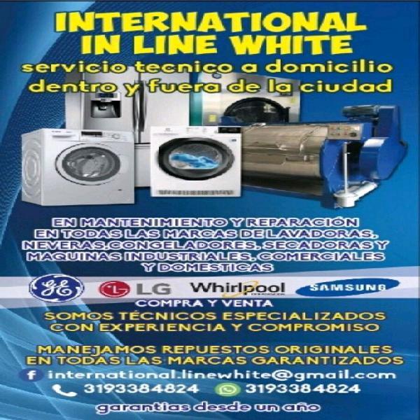 Servicio tecnico a domicilio de lavadoras neveras