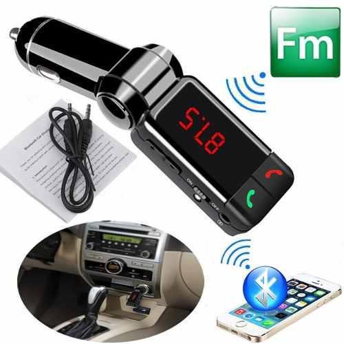 Transmisor fm bluetooth carro mp3 usb manos libres universal