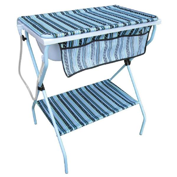 Bañera cambiador bebe azul marca teknum