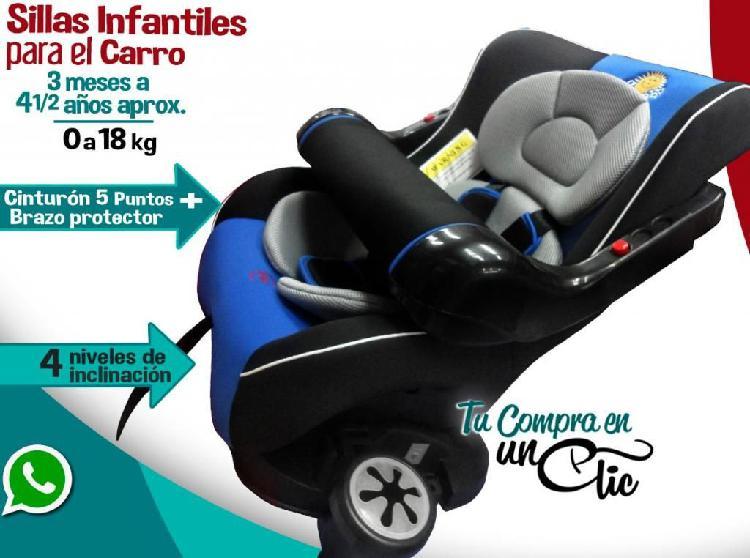 Silla infantil para carro para niños desde 3 meses a 4